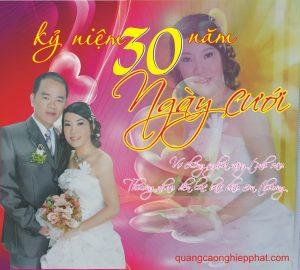 in phông kỷ niệm ngày cưới