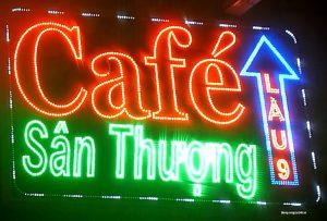 làm biển led quán cà phê