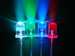 các màu sắc khác nhau của bóng led