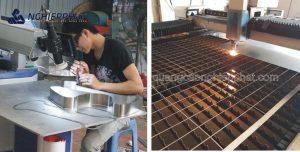 sản xuất chữ inox