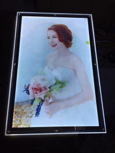tranh điện làm khung ảnh cưới