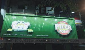 biển quảng cáo nền tôn chữ nổi