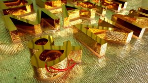 chữ nổi inox gương vàng sáng bóng
