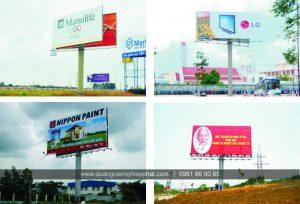 Thi công biển quảng cáo pano tấm lớn tại các tỉnh phía bắc
