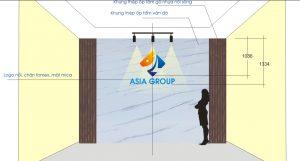thiết kế logo backdrop văn phòng đòi hỏi óc thẩm mỹ và khả năng tính toán kỹ thuật để cho sản phẩm ưng ý