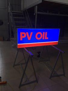 biển hộp đèn 3M gia công cho tập đoàn PV OIL