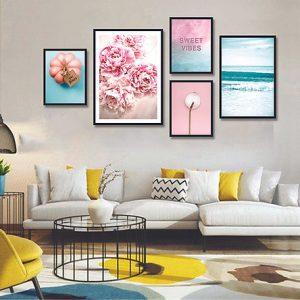 tranh canvas treo tường phòng tiếp đón khách hàng