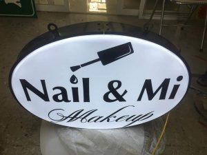 bảng vẫy tiệm nail - mi đẹp