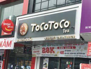 bảng hiệu quảng cáo trà sữa