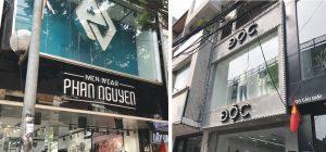 bang hiệu shop quần áo nam