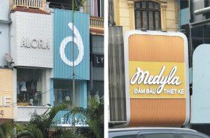 biển quảng cáo shop thời trang lam nhựa