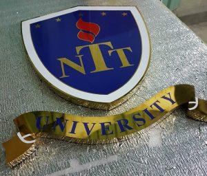 logo chữ nổi Inox trường đại học