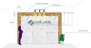 thiết kế logo backdrop văn phòng
